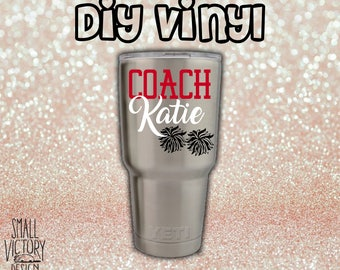 Custom Vinyl Decals Wedding Decals Shirts By Smallvictorydesign - Custom vinyl stickers for tumblers