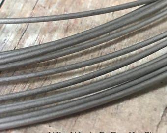 Pure Titanium Wire, Soft, Round Wire, 16 Gauge, 18 Gauge, 20 Gauge, 24 Gauge, Hypoallergenic Wire, Grade 1