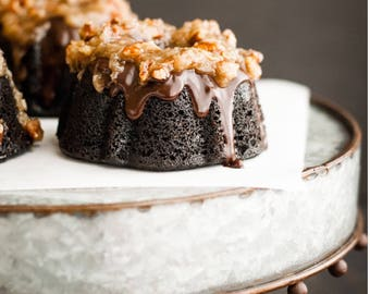 Christol & Co Bakery Old Fashioned Southern - Mini Bundt Cup Cakes, German Chocolate Cake