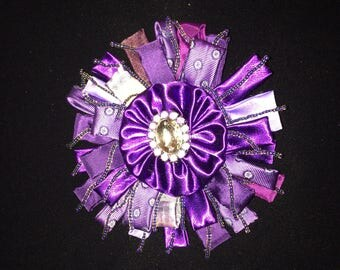 Purple Statement Brooch
