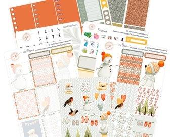 Planner Stickers Weekly Kit / Cozy Bear / Weekly Kit / Erin Condren Planner Stickers / WK-23