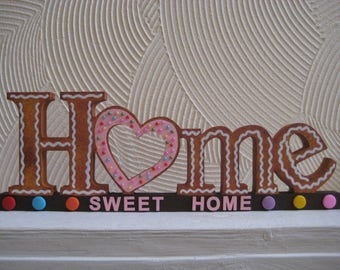 home sweet home freestanding home decor realistic biscuit theme with clay embellishments