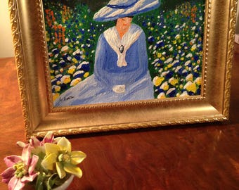 Painting by Ellen Deaton, THE HAT