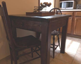 Rustic Farmhouse Kitchen Tiny House Home Living Table Small Dining  Reclaimed Salvaged Wood By Unique Primtiques