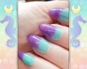 Baby Mericorn - A Thermal Mint Teal to Pastel Purple Nail Polish
