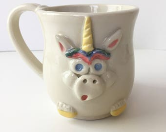 Handmade Unicorn Mug - 10 ounces