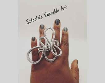 Fun Larger Abstract Wire Statement Ring