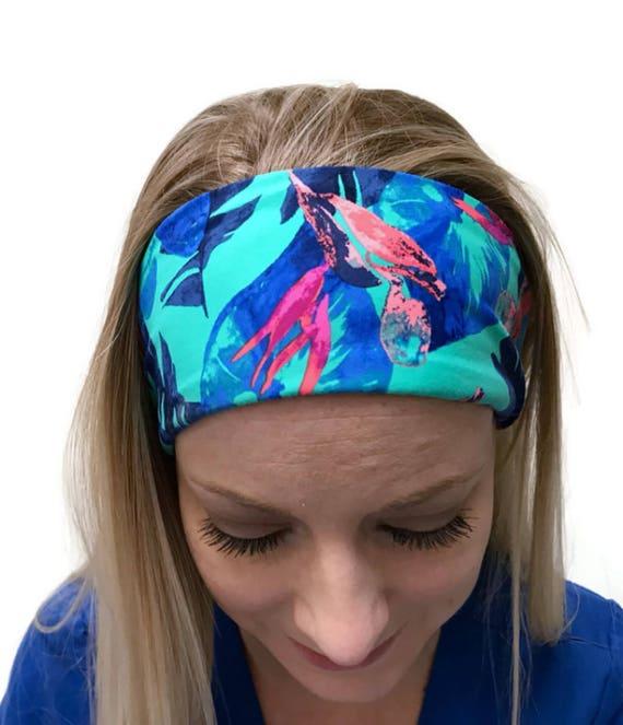 Exercise Hair Bands: Spandex Headband Yoga Hair Band Workout Wide Headband