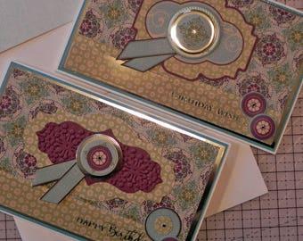 Handmade Birthday Greeting Card Set of 2