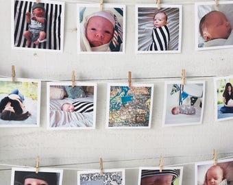 Newborn Photo Collage, Nursery Wall Decor, Custom Collage, Baby Boy Shower Gift, Baby Girl Shower Gift, Baby's First Year, Maternity Photos