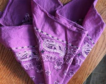Vintage purple bandana paisley