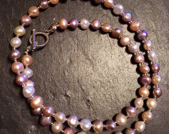 Subtle hued Freshwater Pearls Necklace
