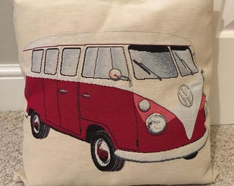 Tapestry campervan cushion