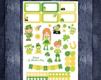 On Sale St. Patrick's Day Sampler for Erin Condren life planner or any planner