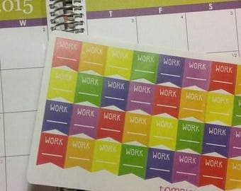 Weekend Sale 32 work flag stickers for your erin condren life planner, daytimes, Filofax, or any planner