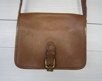 Early Coach Brown Leather Shoulder Bag