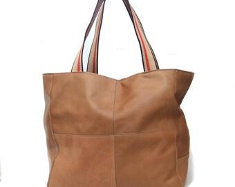Camel bag genui leather soft bag- sale !!!!!