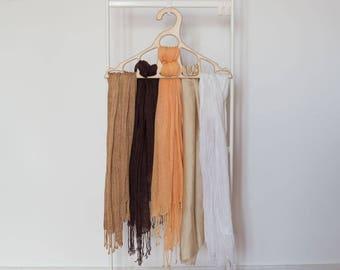 Gift Dress hanger Sale Hanger for tie Wooden hanger Scarf hanger Christmas gift Clothing storage Gift for him Gift for men Closet organizer