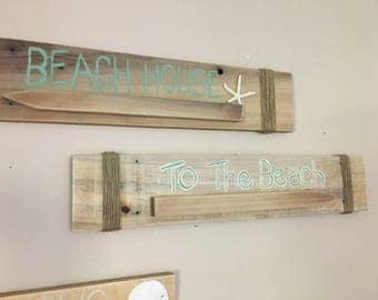 Rustic Beach Signs
