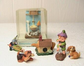 Miniatures, Fairy Garden/Dollhouse Garden Miniatures, Set of Littles