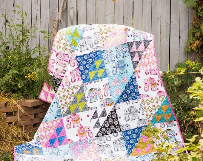 On Parade Quilt Kit by RK Studios featuring Jules & Indigo by Valori Wells