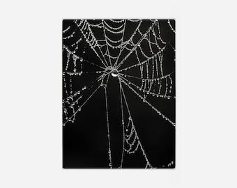Glass Cutting Board, Nature Cutting Board, Gothic Black Trivet, Cob Web Hot Pad, Kitchen Cutting Board, Hostess Gift, Photo Cutting Board