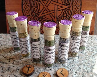 Set of Witchcraft Herbs, Set of 41 Herb Bottles, Pagan Supply, Witchcraft Supply, Witch Cupboard, Witch Apothecary, Witch Herbs, Spell Kit