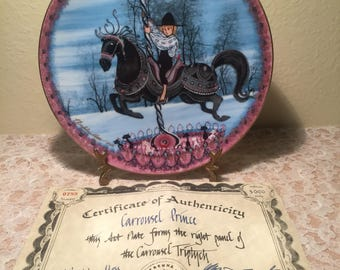 Carrousel Prince Collectible Plate By Anna Perenna