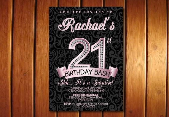21st Birthday Invitation 21st Birthday Party Invitation – Invitations 21st Birthday Party