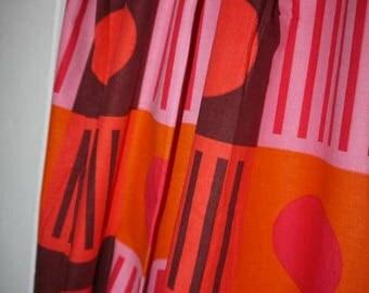 1 panel - Lenght -  Curtain - RETRO - Scandinavian Design - 70s - Colorful