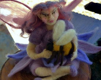 Needle felted Pixie Art Sculpture