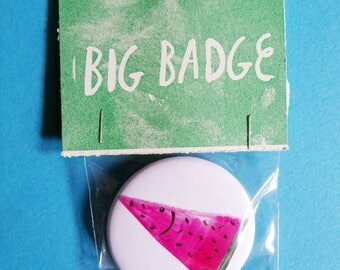 Watermelon 25mm Pinback Badge