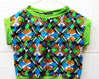 t-shirt blouse green wax