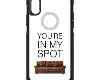 OtterBox Commuter for Apple iPhone 5S SE 5C 6 6S 7 8 PLUS X 10 - Custom Monogram - Any Colors - You're In My Spot - Sheldon - Big Bang