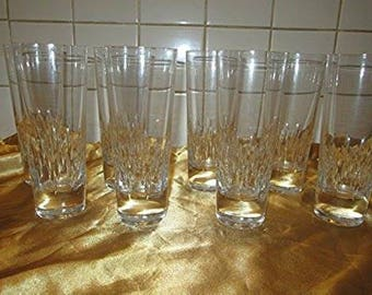 Eight Crystal Vera Wang - Glassware Highball Glasses! Wedgwood!
