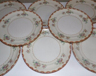 Vintage Occupied Japan Rutland Royal Embassy China Dinner Plates Set Of 8