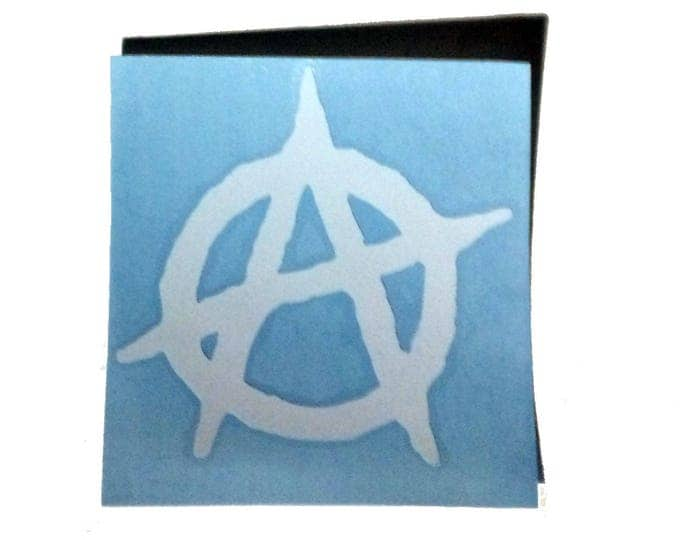 Anarchy Decal, Car Decal, Vinyl Decal