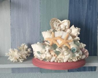 Seashell centerpiece, coastal wedding, coastal decor, beach decor, seashell decor, coastal cottage, beach house decor, coastal nursery