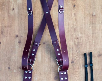 Double Shoulder Camera Strap, Camera Strap, Double Camera Harness, Leather Camera Harness Multicamera Strap - From  Shire Supply Company.