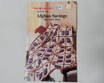 Red Heart Afghan Savings, Crochet and Knit,  Book 333
