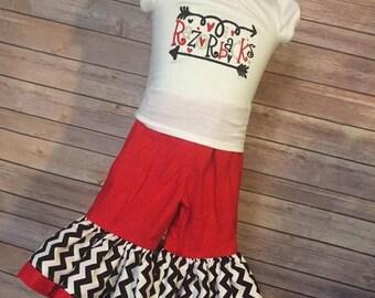 SHOP SALE Arkansas Razorbacks Ruffled Pant Outfit