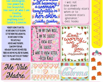 Mujer Magic Sticker Sheet by Very That | EC Planners | Passion Planner | Very That Stickers | Frida Kahlo Quote