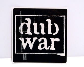 Dub War Sticker 1996 Vintage Wrong Side of Beautiful 1990s Graphic Band Logo Sticker Ragga Rap Punk Electronic Mohawk Music Record Store