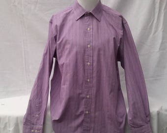 Vintage 1990s Lilac Purple Check Ralph Lauren Long Sleeve Shirt Ralphie Pastel Colour Oversized Pre Christmas Sale Reduced! Was 10 now 8!