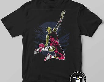 Zombie Slam Dunk - Basketball - Horror Mens Graphic T-Shirt- Free Shipping - DTG Direct To Garment Print