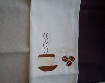 Gift set of three kitchen towels. FLAX(LINEN) (LINEN) 100.mashinnaya embroidery, size = 50 x 70 cm