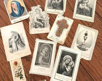 Vintage Prayer Cards, Etc
