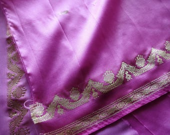 Indian satin Sari 110 cm x 50 cm