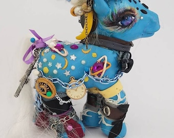 Custom OOAK My Little Pony Toy G3 Night Glider by LightningSilverMana MLP