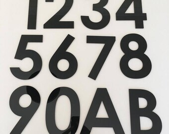 Century Gothic Font, Flat Finish, House/Shop/office Names and Numbers - Several Colours and Sizes
